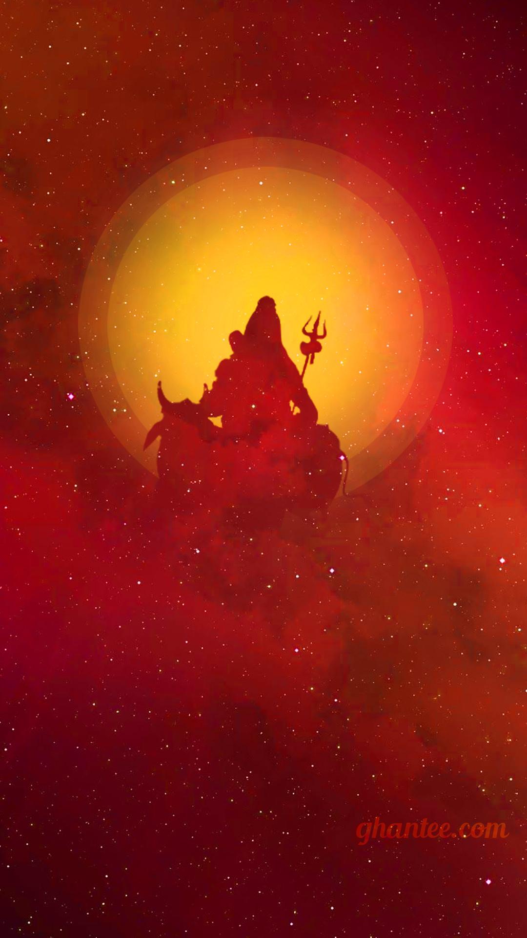 mahadev galaxy spirit wallpaper