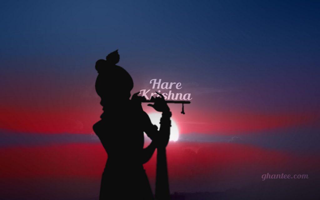 hare krishna silhouette HD macbook wallpaper