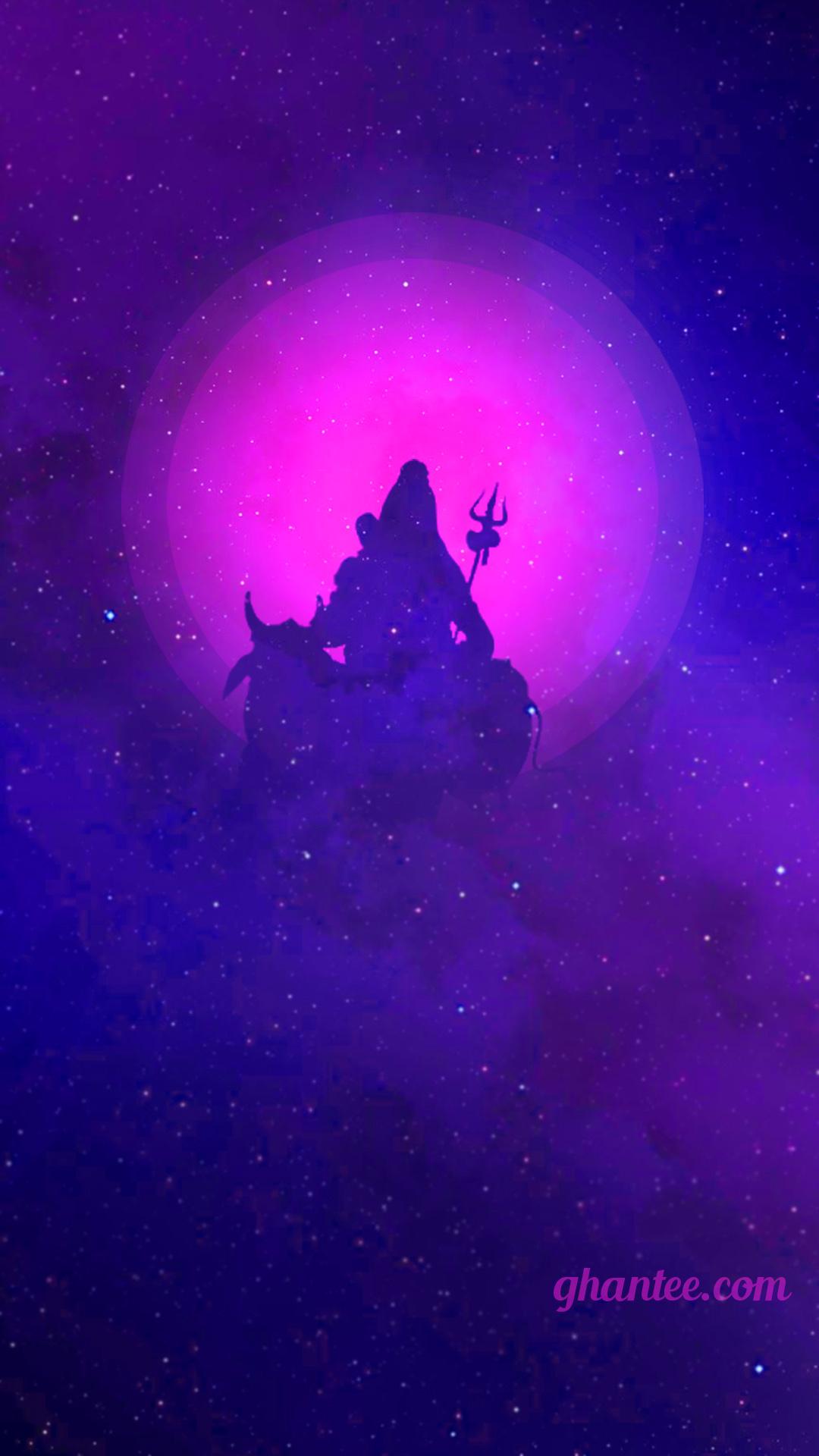 mahadev purple cosmos hd image