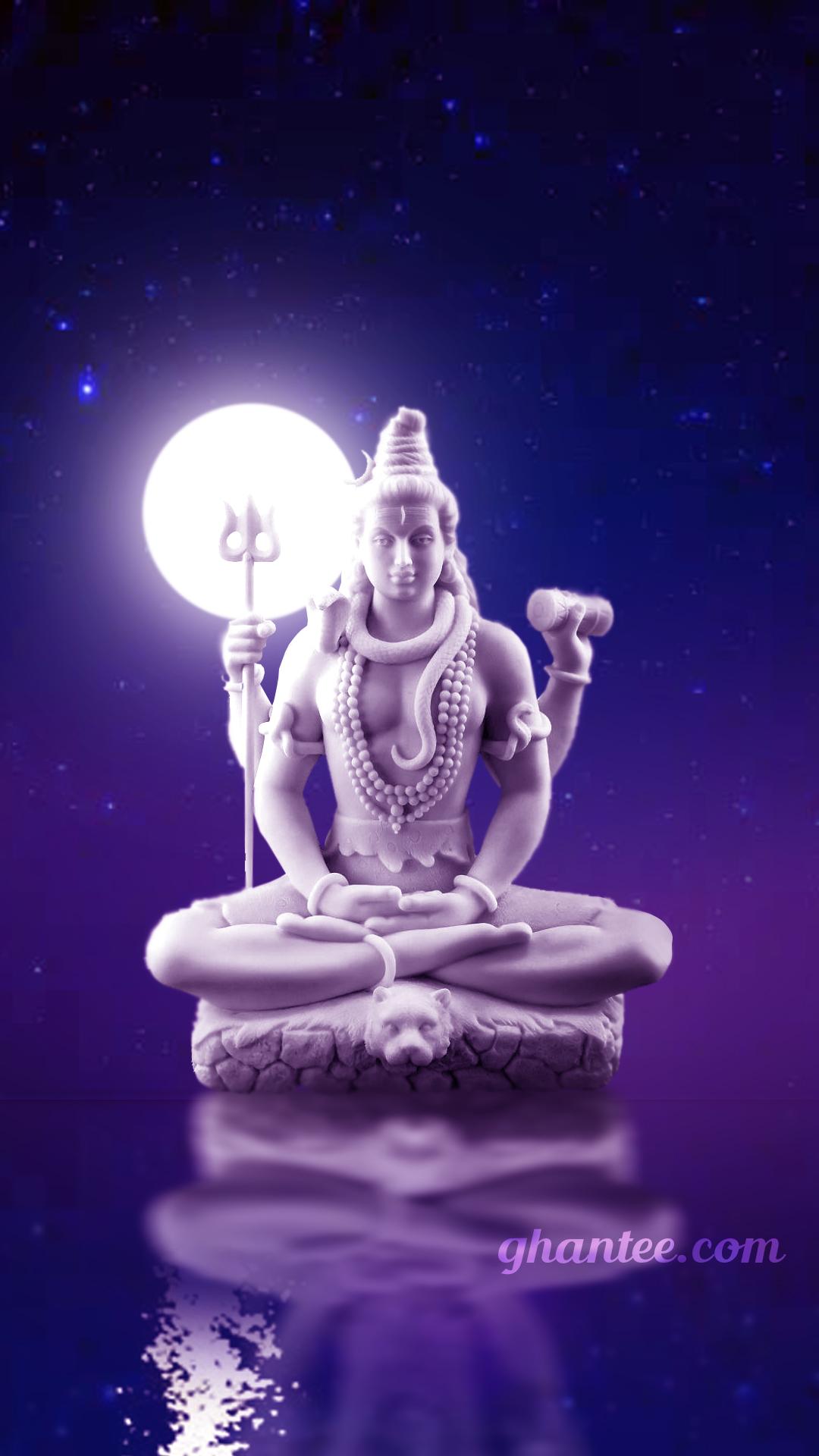 mahadev white statue image hd wallpaper