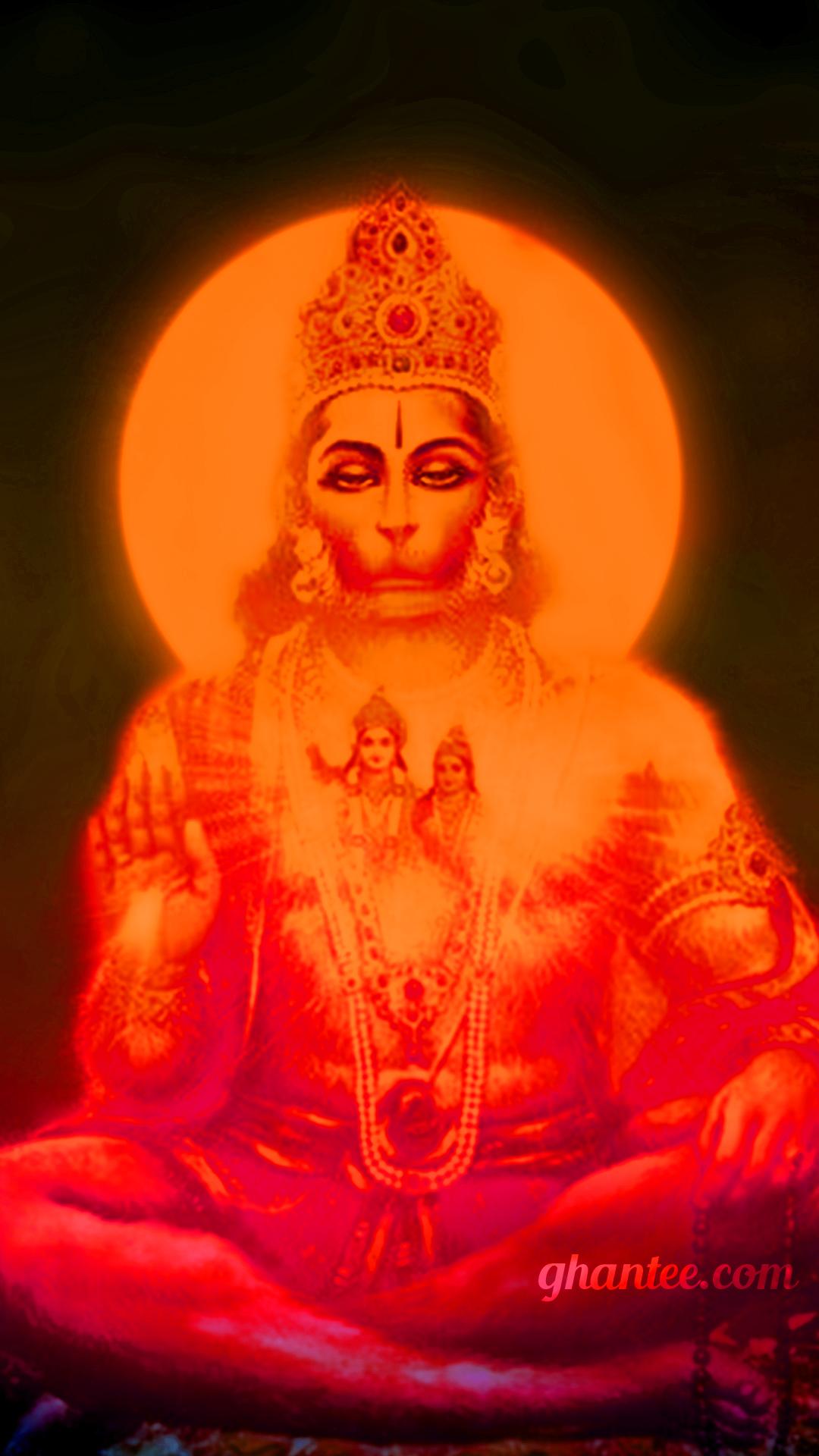 orange hanuman powerful image HD