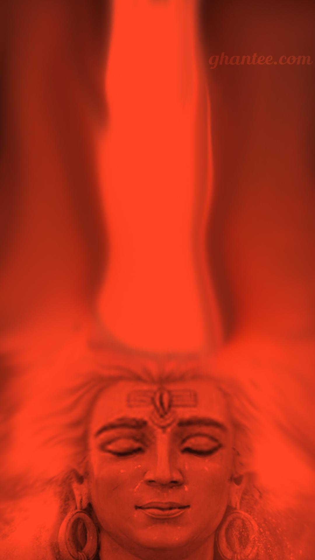 orange lord shiva phone wallpaper
