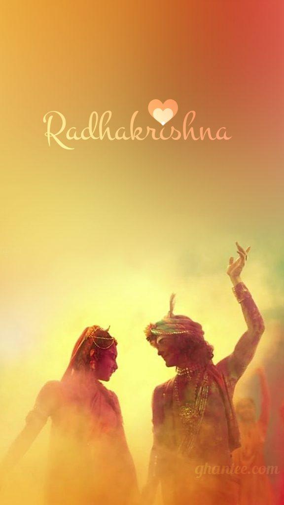radhakrishna colorful phone wallpaper HD