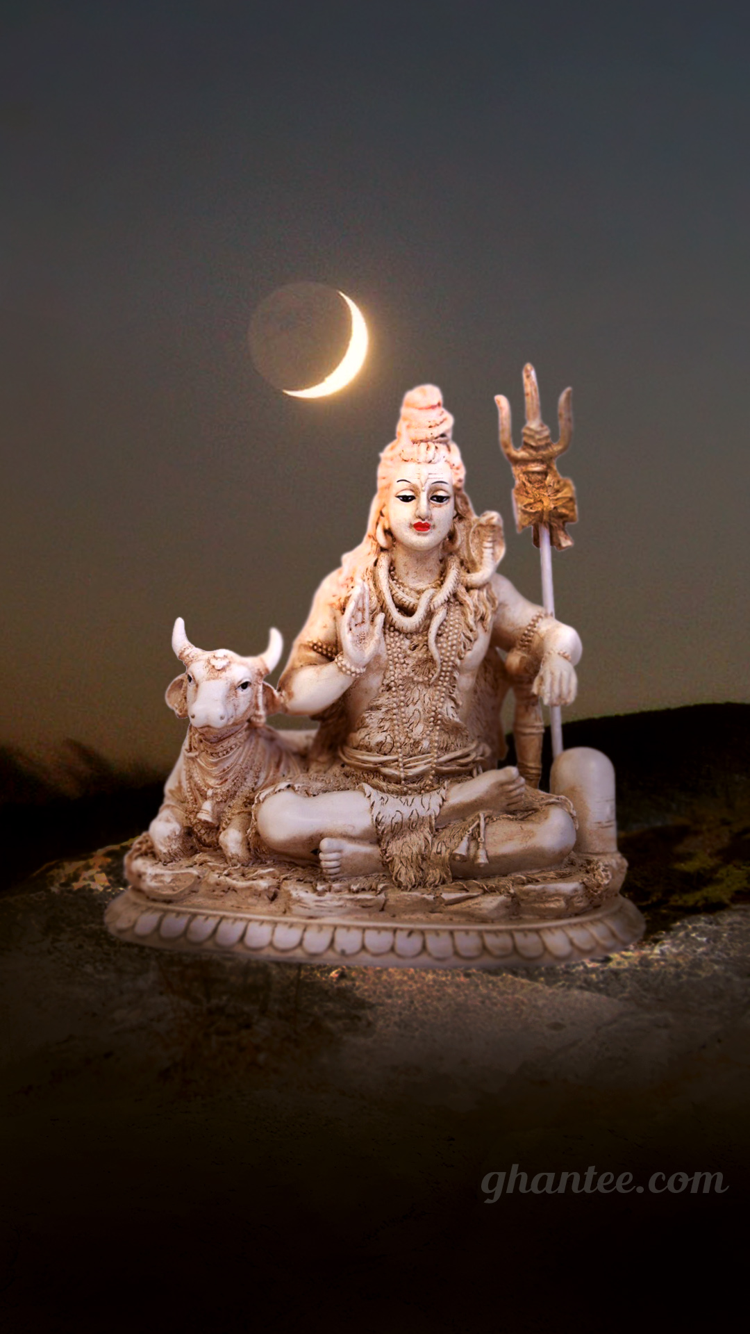 shiv bhagwan beautiful night wallpaper