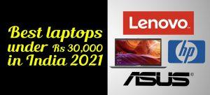 best laptops under 30000 in india 2021