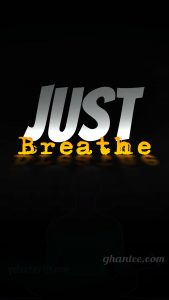 just breathe quote fitness wallpaper