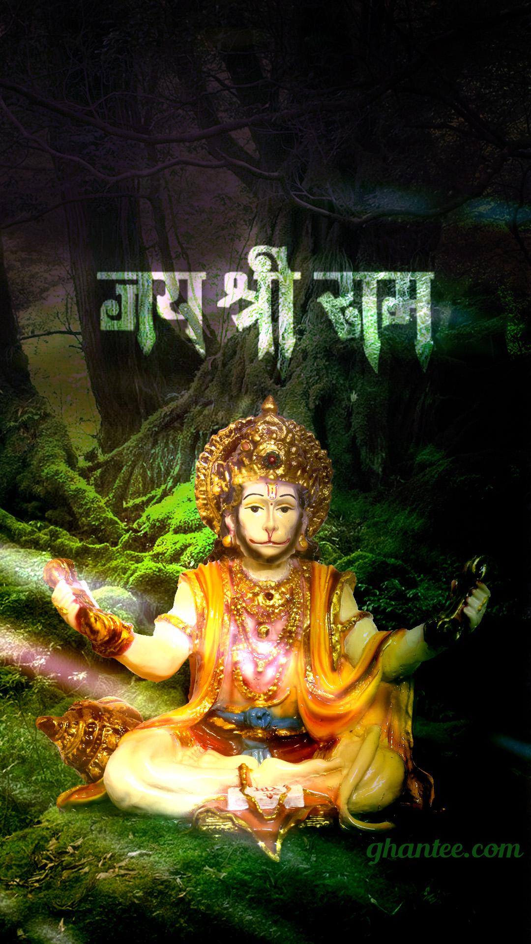 lord hanuman in dark forest hd image