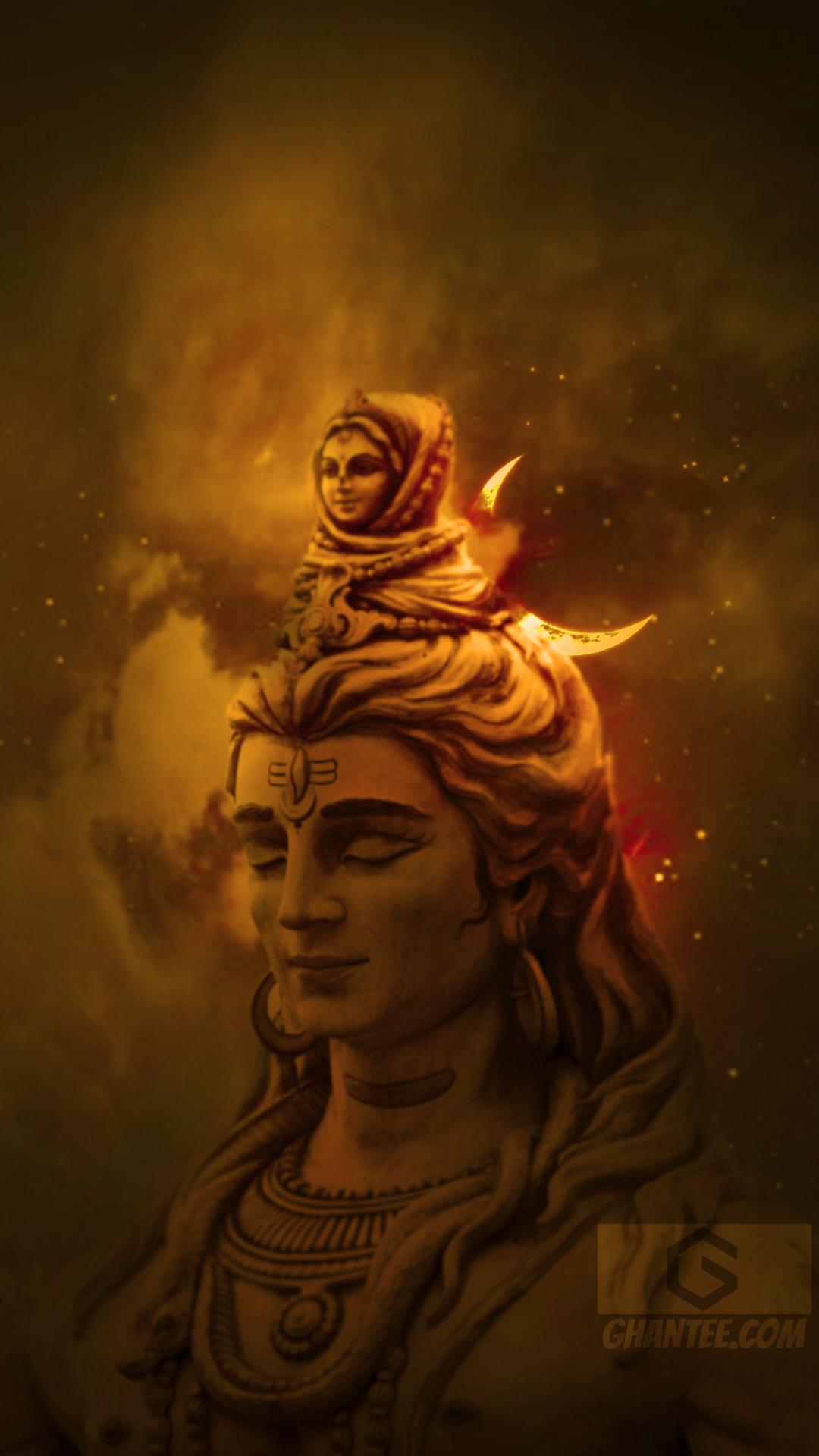 lord shiva face hd phone wallpaper