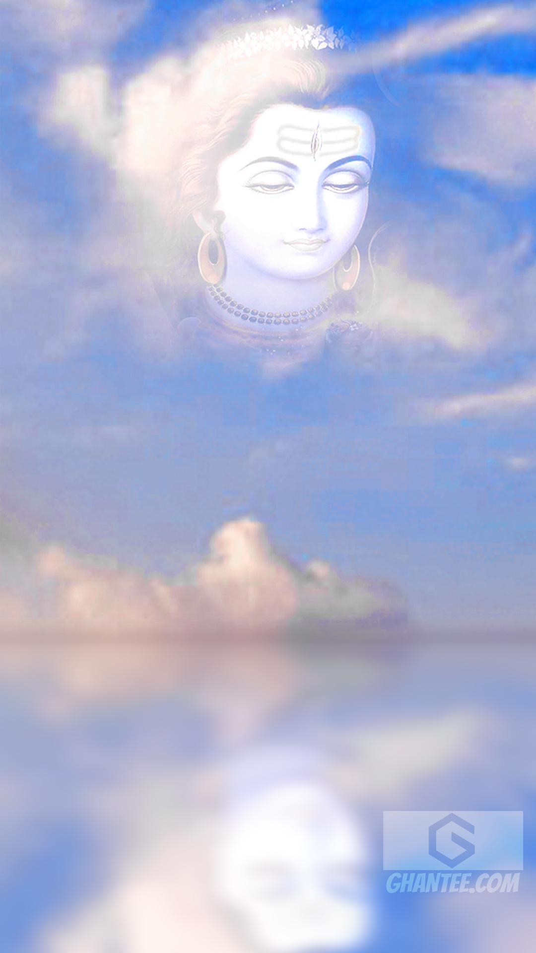 lord shiva photo in cloud hd