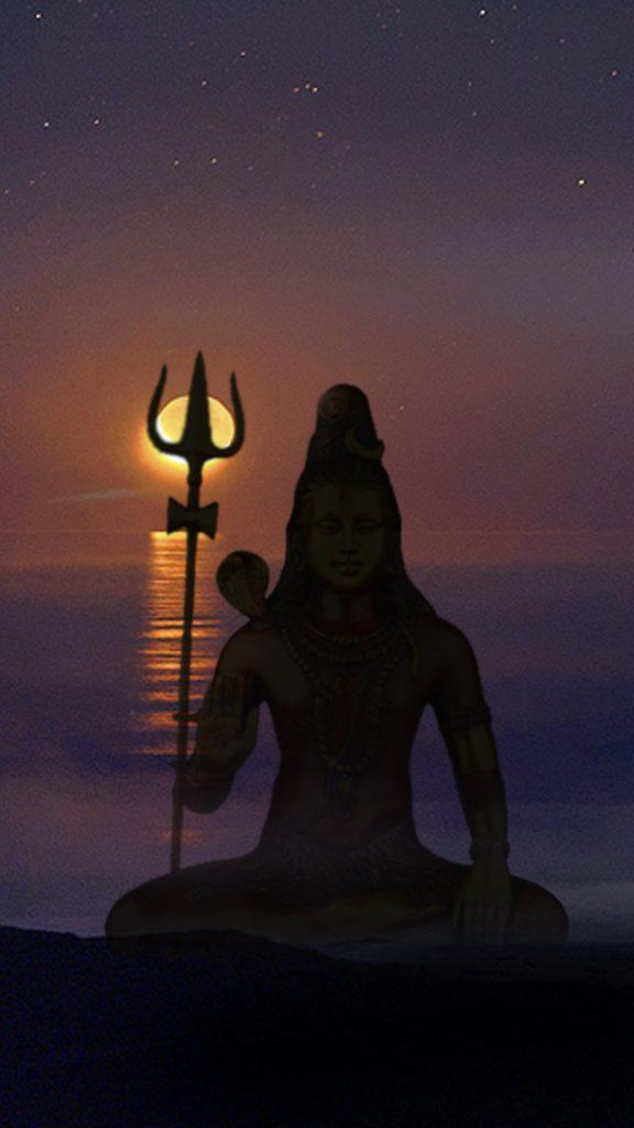 lord shiva silhouette hd pic