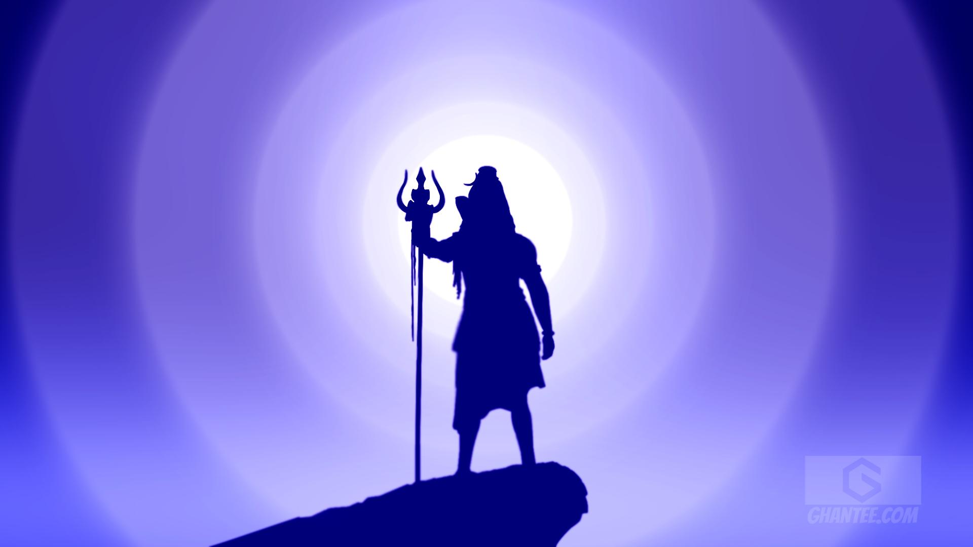 lord shiva silhouette hd laptop wallpaper 1080p