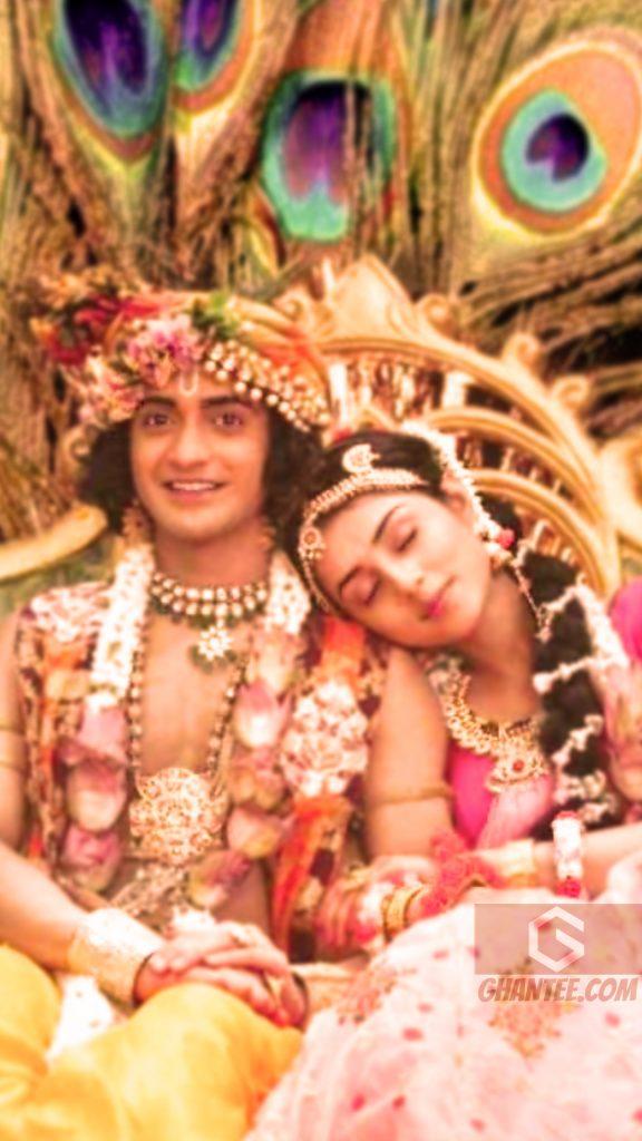 radhakrishna serial image sitting on jhula