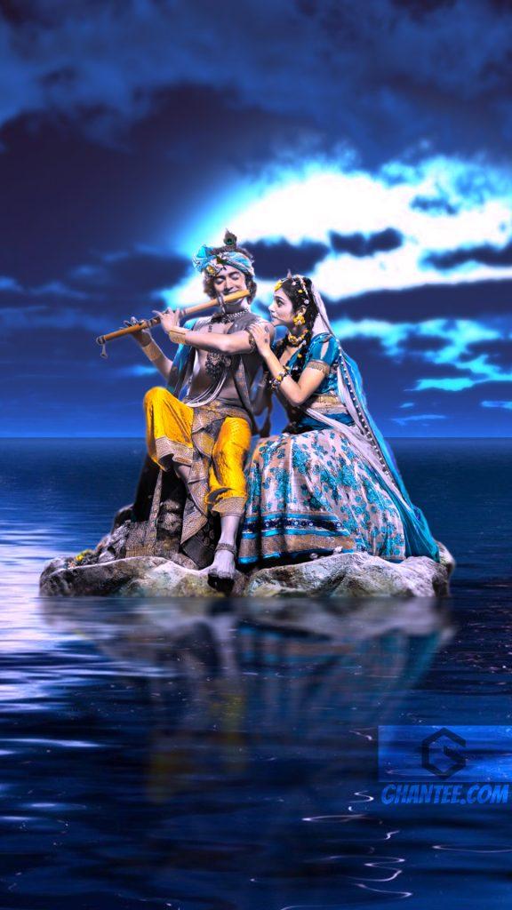 magical night radha krishna serial mobile wallpaper